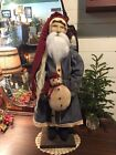 Arnett's Country Store-Large Santa With Snowman-2018 #2