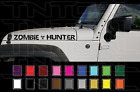 2 23 Zombie Hunter Jeep Wrangler Rubicon Hood Decal Set Stickers Fender
