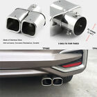 25 Stainless Steel Square Exhaust Pipe car Chrome Exhaust Tail Muffler tip