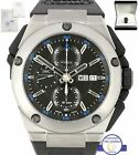 IWC Ingenieur Double Chronograph Blue 45.5mm Titanium Watch I376501 3765 3765-01