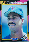 1992 Starting Lineup Juan Gonzalez Texas Rangers Baseball Card