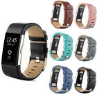 CHEAP Genuine Leather Smart Wrist Band Watch Strap For Fitbit Charge 2 Tracker