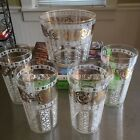 Gold Highball Glasses set of 4  and Ice Bucket  5pc set