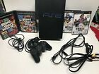 Original Ps2 Playststion 2 Fat W/ Controller 4 Games Gta Working SCHP-50001/N