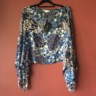 St John Evening Silk Cover Top Blue Violet One size