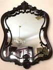 Gorgeous Rare Mirror Large Vtg Antique France Rococo  Baroque Brown Wood 35X24