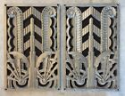 Stunning pair of Art Deco style grates / vents / decorative panels