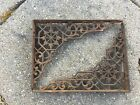 2 Antique Ornate Victorian Cast Iron Shelf Brackets 6 Inches X 8 Inches X 1 Inch