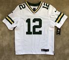 Aaron Rodgers Green Bay Packers Nike Elite Authentic White Jersey 48 XL NWT