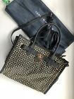 tommy hilfiger womens handbag Large Black With Monogram Canvas Golden Logodetail