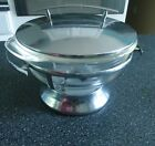 Anchor Hocking Fire-King Glass 2qt Chafing Dish Retro Art Deco Chrome Server
