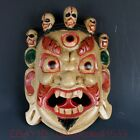 Old ancient China Nuo opera wood mask,(decorative your wall) MY0197