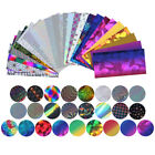 25 Pattern Laser Nail Art Stickers Rainbow Starry Transfer Foil Tips Decorations