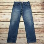 Levis Vintage 501 XX Button Fly Straight Leg Jeans Mens Size 36 X 36