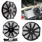 Car Electric Plastic Cooling Fan Radiator Black With Mounting Kit 12V 80W 12