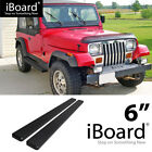 Running Board Side Step Nerf Bars 6in Black Fit Jeep Wrangler TJ YJ 2Dr 87 06