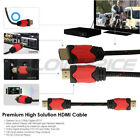 Braided HDMI Cable 1080p High Speed Ethernet HDTV Ferrite Cores 30ft For TV XBOX