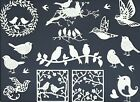 5 GRPS COMBINED BIRDS HOUSES OWL FEATHER DIE CUTS* SUB-SETS LOTS 4-100 PCS. READ