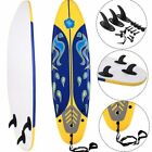 6 Ft Surfboard Beach Body Surfing Longboard Fun Playing Waves Beginners Kids Yel