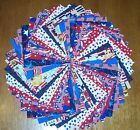 48 Patriotic USA Fabric 5 Quilting Squares 100 Cotton Charm pack bundle