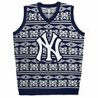 Ugly Christmas Sweater Vest, New York Yankees, New, Small, MLB, NWT
