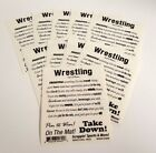 Scrappin Sports Sticker Lot 10 Sheets Wrestling Poem  Sayings Clear 4 x 5