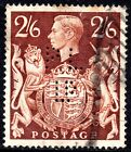 GB 1939 48 2 6d Brown SG476 Good Used Perfin