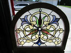 ~ BEAUTIFUL ANTIQUE STAINED GLASS WINDOW ~ 32 x 27.5 ~ ARCHITECTURAL SALVAGE