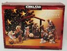 NEW Kirkland Signature 12pc Nativity Set 75177 Red Box NO Wood Creche Missing