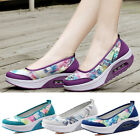 Size 10 9 8 7 Womens Sneakers Walking Slip on Air Cushion Platform Gray Shoes
