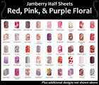 Jamberry Wraps In stock RED PINK  PURPLE FLORAL Half Sheets FREE SHIPPING