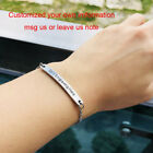 Women Bracelet Bangle Wristband Date ID Custom DIY Engraving Friendship BBF Gift