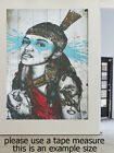 Abstract Modern Painting Art Canvas Print Wall Home Decor indian native blue