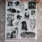 DIY Seal Paper Photo Cards Cat Transparent Clear Rubber Stamp Craft Scrapbooking