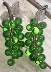 • Two Hand Blown Glass Grape Clusters• Wire Stem•