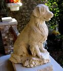 CONCRETE GOLDEN RETRIEVER STATUE MEMORIALPET GRAVE MARKERIS SOLID CONCRETE