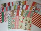 CHRISTMAS SCRAPBOOK PAPER CARD MAKING HUGE LOT 60 PIECES VARIETY CRAFTS