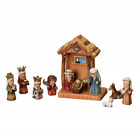 Nativity Set WoodWorks 11 Pieces Christmas Decoration Stable Size 8 Inches Long