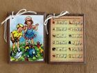 5 Handcrafted Wooden RETRO SCHOOL DAYS Hang Tags/Ornaments/Teacher Gift SET1