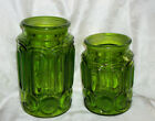 Vintage Smith Green Glass Canisters No Lids