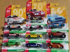 Hot Wheels 50th Throwback Decades Wave Mix 2 Set 10 w DMC Delorean