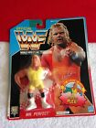 1991 TITAN WWF HASBRO WRESTLING FIGURE MR. PERFECT ON BLUE CARD NOS MOC NEW