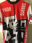 VINTAGE CONVICTION MENS QUEBEC CYCLING JERSEY QUEBEC SIZE LARGE RED BLACK WHITE