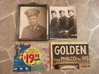 Vintage Silver Art Deco 8 x 10 Wood Frame with Soldier Pictures plus Extra's