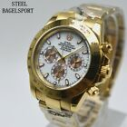 High Quality Automatic Mechanical Steel Bagelsport Watch Mens Waches Gold Plated