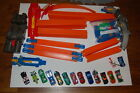 Hot Wheels huge lot Criss Cross Crash tracks and 14 cars