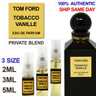 Tom Ford Tobacco Vanille PRIVATE BLEND EDP - 2ML 3ML 5ML - Decant Spray Bottle
