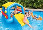 Intex Island With Slide 110X68X48 Swimming Pool Inflatable Float Age 2+