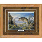 FIRST STRIKE by Terry Doughty Largemouth Bass Print Framed Picture Fishing Art