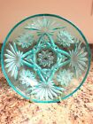 VTG EAPC Anchor Hocking Early American Prescut Aquamarine Blue Bowl